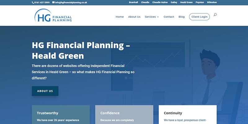 HG Financial Planning website design and web marketing